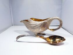 Tane Sterling Silver Goose Bowl With Spoon 36.2 Troy Ounces