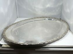 Large Vintage Mexican Lafayette Sterling Silver Tray 43 Troy Ounces