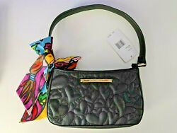 Betsey Johnson Black Satchel Handbag With Scarf $39.99
