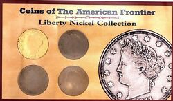 Coins Of American Frontier Liberty Nickel Collection 1901-1910 Us Mint