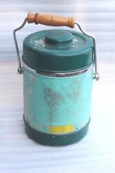 Thermos With Spoon Vintage Old Antique Kitchenware Home Decor Collectible D-81