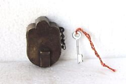 Iron Brass Lock And Key 1900s Old Vintage Antique Rare Collectible Pg-40