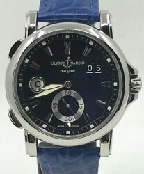 Ulysse Nardin Gmt Dual Time Big Date 243-55 Stainless Steel 42mm