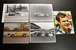 5 Original Vintage Unser Family And Others Indy 500 Racing Car Photos 1968-1973