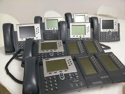 Lot Of 7 Cisco Ip Phone Cisco 7965 7960 7961 7945 And 4 Extension Module 7914