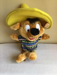 Vtg Looney Tunes Ace Company Warner Bros Speedy Gonzales Mouse Plush 24 Tall