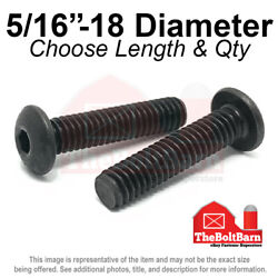 5/16-18 Alloy Button Socket Head Cap Screws Bolts Black Oxide Pick Size And Qty