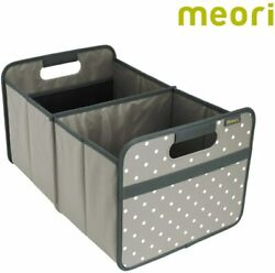 Stone GreyDots Foldable Box Classic Large Trunk Organizer Dorm Shopping Basket