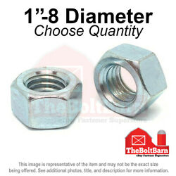 1-8 Grade 5 Finished Hex Nuts Zinc Plated Coarse Thread Pick Quantity
