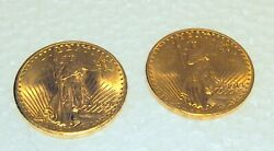 Us 20.00 Gold Coins Circa 1913 D And 1928 Eagle 66.80 Grams Price Is For 1 Only