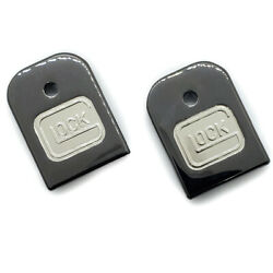 2 X Custom For Glock Gen 3 amp; Gen 4 magazine floor Metal plate Black Nickel $44.10