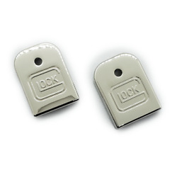 2 X Custom For Glock Gen 3 amp; Gen 4 magazine floor Metal plate Nickel Plated $39.60