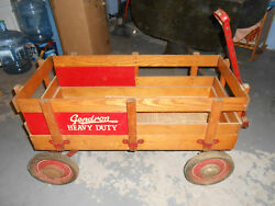 Antique Rare Gendron Heavy Duty Pull Wagon - Early 1900's