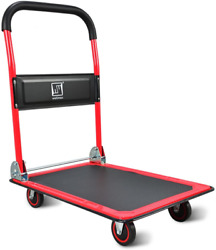 Push Cart Dolly By Wellmax Moving Platform Hand Truck Foldable For Easy Storag