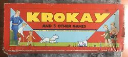 Vintage 1937 Krokay And 5 Other Games By Transogram Company Original Box