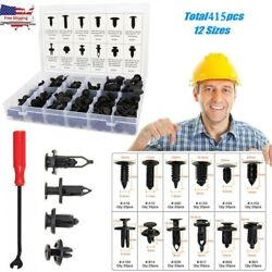 415pc Plastic Rivets Fastener Fender Bumper Push Clips + Removal Tool For Chevy