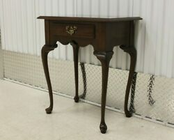 Ethan Allen Solid Cherry Queen Anne Style Hall Table #11-9015