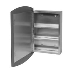24 Stainless Steel Medicine Cabinet Mirrored Wall Mount   Renovator's Supply