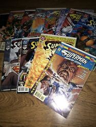 Superman The Man Of Steel Annual 6+64-74 Issues Mix Lot Dc Comics 12pc Lot
