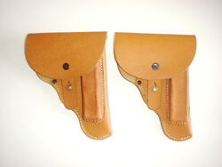 German Army Ww2 Repro Cz27 P.mod.27 Holster Beige Pebbled Czech Made Riveted Rb