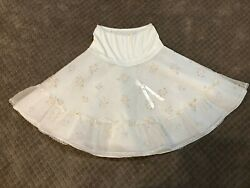 Vintage 1930and039s To 1940and039s Ladys Ruffled Sheer Dotted Swiss Petticoat Slip