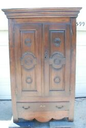 Antique Furniture Cupboard English Country Oak 18th Century