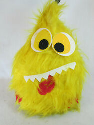 Vintage 1970s County Fair Carnival Plush Furry Hairy Yellow Monster Skill Prize