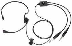 Pilotusa Pa-2012a Lightweight Pro Headset Left Side Mike And Dual Speakers