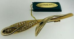 New Chimento Pave Diamond Lily Flower 18k Yellow Gold 0.78ctw Brooch/pin 2875.