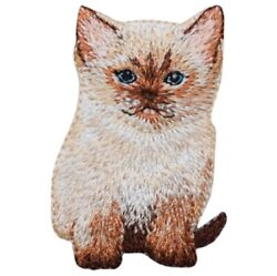 Ragdoll Kitty Applique Patch Cat Siamese Kitten Badge 2 1 8quot; Iron on