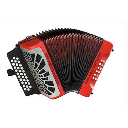 Hohner Compadre Diatonic Accordion Keys Of E A And D Red W/ Silver Grill