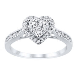 Round Cut 14k Solid White Gold Real Diamond Engagement 1.40ct Ring 8