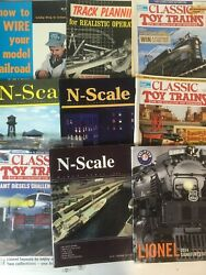 Lot Of 8 Model Train Magazines 1960s And 1990s - N-scale, Classic Toy Trains