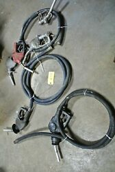 9 Pcs. Fuel Hoses And Nozzles Gas Station - Industrial - Commercial Freeship