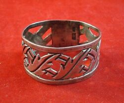 Sterling Silver Pierced Mexican Napkin Ring - Raf Mex Taxco 2366