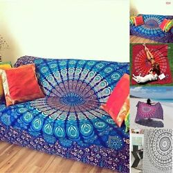 NEW Indian Mandala Tapestry Hippie Wall Hanging Bohemian Bedspread Dorm Decor