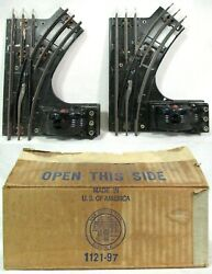 Lionel No 1121 Pair Electric Remote Control O27 Gauge Right Switch Train Tracks