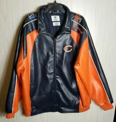 Mens Nfl Team Apparel Chicago Bears Jacket Coat Size Xl  X-large Fast Shipping