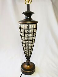 Fine Art Lamps Brand Caged Blown Glass Table Lamp