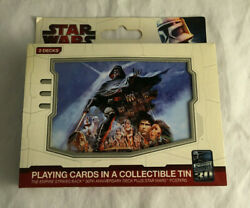 Star Wars Playing Cards W/ Collectible Tin 2 Decks New And Sealed 30th Anniversary