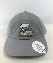 Patagonia Eat Local Goat Trad Cap - New Drifter Grey 100% Organic Cotton Hiking $35.99
