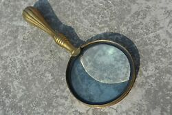 Brass Magnifier Beautiful Hand Held Magnifying Glass Collectible Gift Home Decor