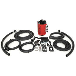 Iag V3 Street Series Air/oil Separator Kit Wrinkle Red For 08-14 Wrx And 08+ Sti