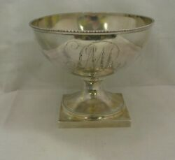 Antique Early American Coin Silver Slop Bowl By Moore And Ferguson, Phila, C.1800