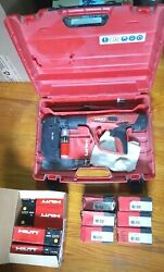 Hilti Dx 460 Concrete Nailer Powder Actuated Gun W/ Mx 72 Hard Case And Boosters