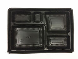 Togo Lunch Bento Box With Lid 5-compartment Rectangle Food Container 10.6 X 7.2