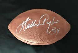 Walter Payton Rare Signed Autographed Official Wilson Nfl Game Football.