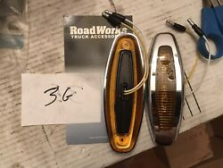 Lot Of 2 New Crew Oval Led Lights By Roadworks Amber 08038 Trucklite Grote Led