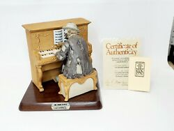 Emmett Kelly Jr The Piano Player Signed Porcelain 9 Figurine Flambro 1077/9500