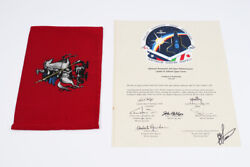 Moscow Flag Flown In Space Certificate Signed By Crew Sts-100